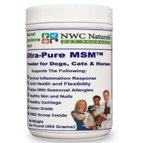 Ultra-Pure MSM™ Powder for Pets – 1 lb Canister